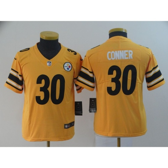 save off ea074 cf4ab Youth Pittsburgh Steelers James Conner Jersey